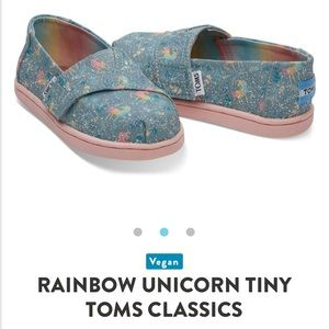 db60fca9fc2 Toms Shoes - NWT Toms 🦄 TIny Classic Frost Rainbow Unicorns